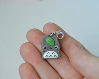 Kawaii Totoro Toast Charm - Kawaii Polymer Clay Charms