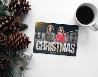 Christmas Photo Card - Merry Christmas - Holiday photo card - holiday card - photo card - photo christmas card - photo holiday card - photo