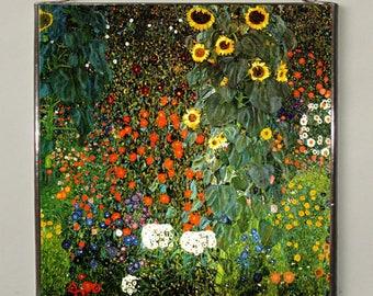 Gustav Klimt - The Sunflower, Stained Glass.