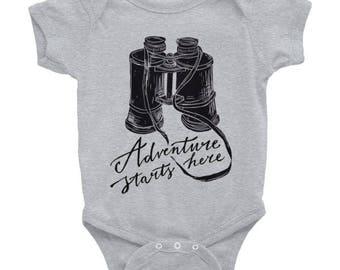 Adventure starts here - Baby Infant Bodysuit | Romper | Onesie