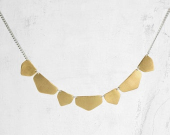Geometric Bib Necklace | Minimalist Collar Necklace | FENNEC Gold Necklace