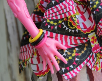 "10 Rubber Bangle Bracelets fit Tall 17"" Monster & Fairy Tale Type High Petite Slimline Dolls 41 colors available"