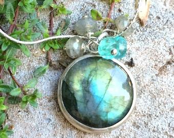 Labradorite Hidden Pentagram Necklace