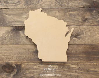 Wisconsin State Shape Cutout Sign