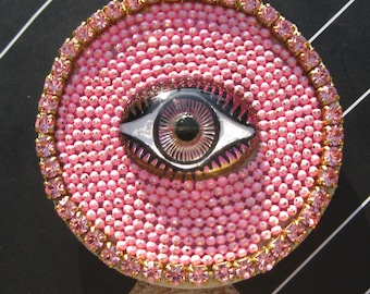 Authentic Popsockets© Phone Grip Boho Evil Eye - Pink or Blue