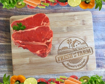 Fresh from the Farm - Personalised Engraved Bamboo Chopping Board
