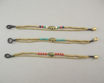 Brass Bracelet with Elephant Charm
