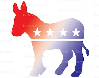 Democratic Donkey Election Birthday - Edible Cake and Cupcake Topper For Birthday's and Parties! - D21731