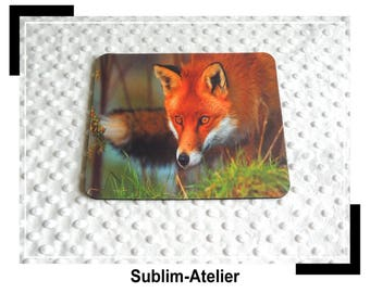 Fox, desk accessory, red, computer mouse pad