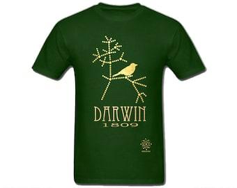 Charles Darwin Evolution Shirt, Science Shirt, Geek Gift, Geek T-shirt, Science Gift for Him, Darwin's Finches, Tree of Life, Biology Gift