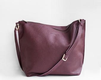 Meili Leather Crossbody Bag / Crossbody Bag / Leather Crossbody Bag / Leather Messenger Bag / Leather Slouch Bag / Slouch Bag/ Hobo Bag