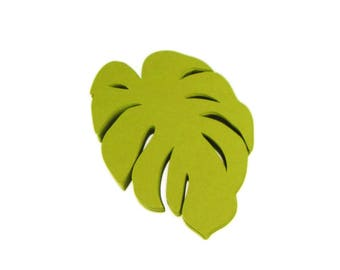 Monstera Leaf Paper Cut Outs set of 25