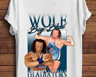 Wolf Gladiators T Shirt 90s Vintage Style