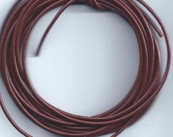 3 yd 1.5mm Greek Leather Cord - DARK BROWN - Hank