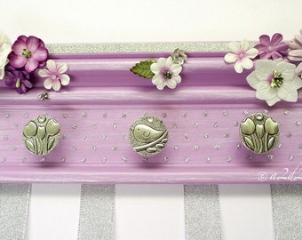 "Lavender Hair Accessory Storage 10"", Bow Organizer Holder, Nursery Wall Decor, Baby Girl Shower, Purple Birthday Gift"