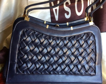 Navy Top Handle Handbag