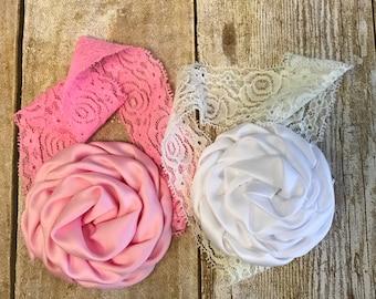 Rosette headband, infant headband