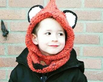 Fox cowl - Toddler size (2-4 yo)