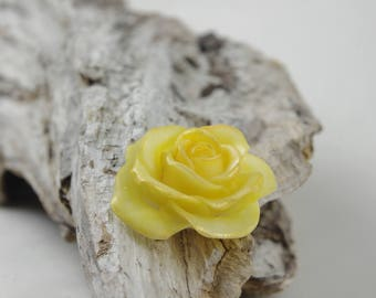 Yellow Rose of cold porcelain