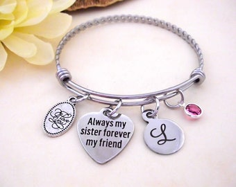 Sisters Gift, Gift for Sister, Sisters Jewelry, Sister Bracelets, Sister Birthday Gift, Always my Sister Forever my Friend
