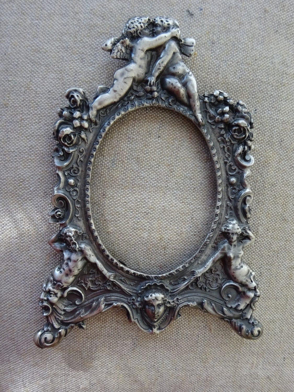 Ornate vintage elias pewter picture frame victorian design get shipping estimate jeuxipadfo Gallery
