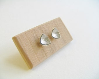 Sterling Silver Bird Beak Studs. Silver Minimalist Stud Earrings. Small silver stud earrings.