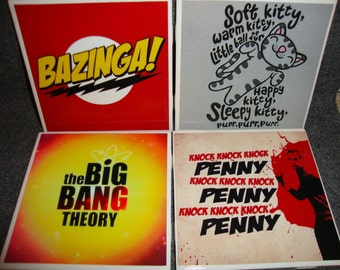 Big Bang Theory Coasters (set of 4)