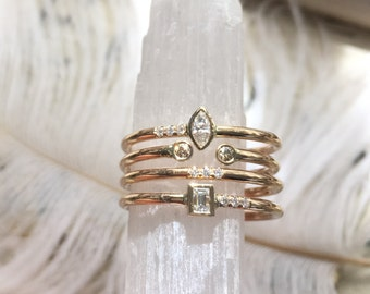 Ultimate stackable diamond rings