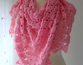 crocheted pink shawl...