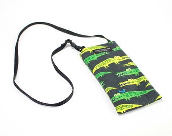 Eyeglass case for readers - Gator fabric Eyeglass Reader Case -with adjustable neck strap lanyard
