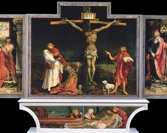 Matthias Grunewald: The Isenheim Altarpiece. Fine Art Print/Poster. (003297)