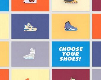 Paper - Sneakers Papercut - Nike - Air Jordan - Adidas - K1X - Reebok - LeBron - Kobe - KD - 21x15