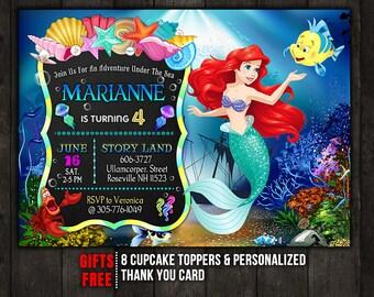 Ariel invitation | Etsy