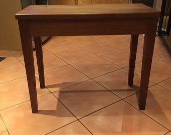Vintage Wooden Piano Stool with Storage