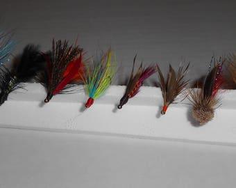 Selection of flies for trout fishing