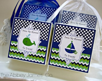 Baby Boy Shower Favors, Nautical Theme Shower, Nautical Party Favors, set of 12