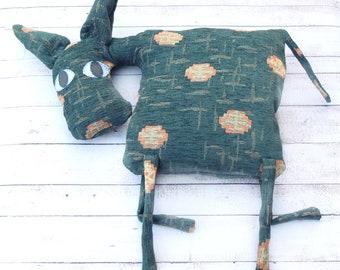 Donkey Pillow Burro Pillow Textile Donkey Kids Room Decor Country House Decor Farm Animal Stuffed Animal Soft Toy Funny Plush Petrol Donkey