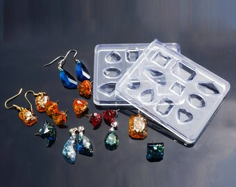 NEW! Silicone Resin Mold Tray  - 10 Mixed Shapes - Small Cabochon Mold