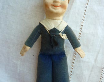 Sailor Doll, Franconia Norah Wellings - By Empire- Sailor Doll from Franconia Cruise Ship 1920s, Souvenir Doll - 'JollyBoy'