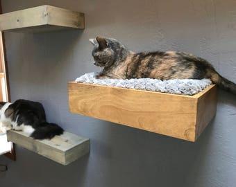 Cat Bed Floating Cat Bed Cat Shelves Floating Cat Shelf Floating Shelves Ledge Shelf Cat Walk
