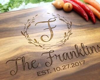 Personalized Cutting Board - Engraved Cutting Board, Custom Cutting Board, Wedding Gift, Housewarming Gift, Anniversary Gift W-043 GB
