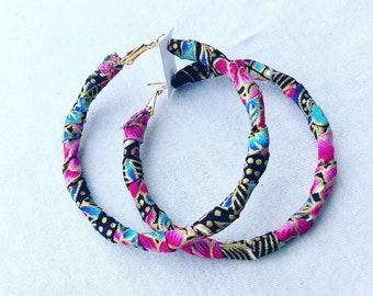 Wrapped earrings