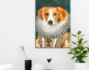 Custom pet portrait, painting from photos, original modern style portrait painting, pet portrait, pet painting