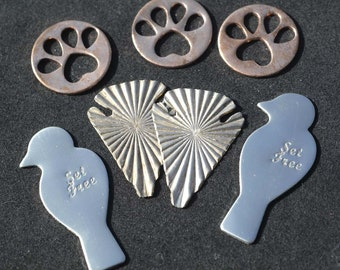 Special of the Day - 10 pieces Mix-Metal Shapes these are Left Overs Blanks #15