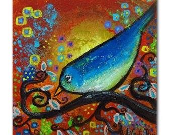 Bird III~Days End Original Art Tile Coaster