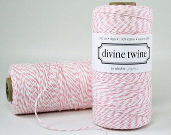 Pink Packaging - Pink Twine - Pink Party Decorations - Pink Gift Wrap - 240 yards Spool