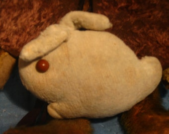 Early, Handmade Small Stuffed Bunny, Simple & Primitive