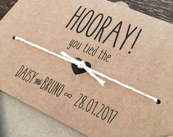 Personalised Handmade Wedding Day Congratulations Card, Vintage Rustic Style