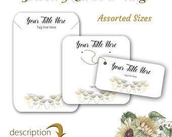 Jewelry Display Cards - Earring Cards - Necklace Cards - Earring Display - Display Cards - Jewelry Tags - Product Cards - Tags - Card Set