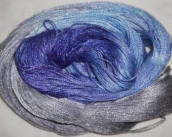 Hand dyed Tencel Yarn - 4/2 Tencel Lace Wt. Yarn  RAINDROP - 420 yards